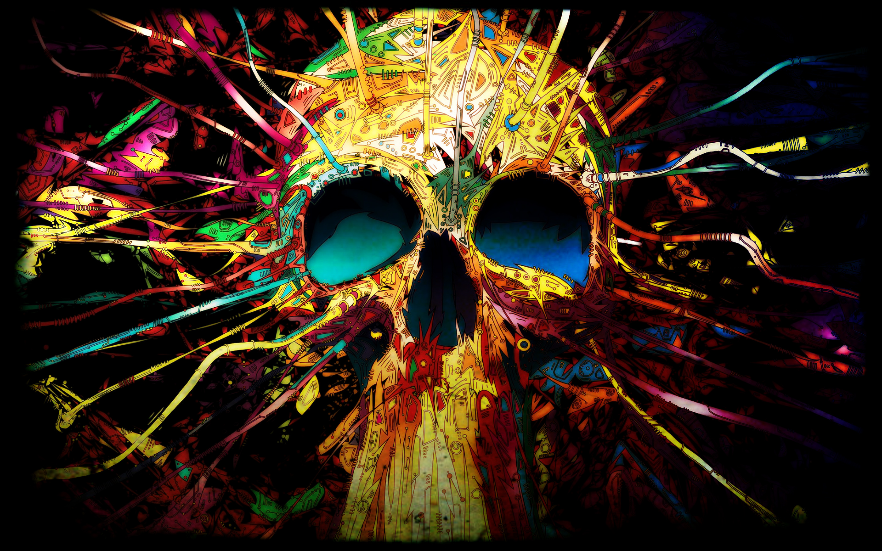 Psychedelic Skull Window Or Wall Decal Prosportstickers Com