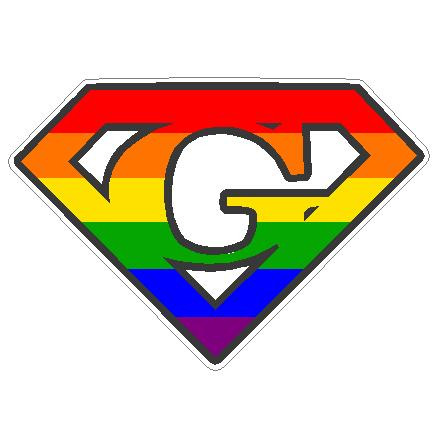 Gay Super Gay Decal. Click to enlarge. RRP: Price: $4.95 (including tax)