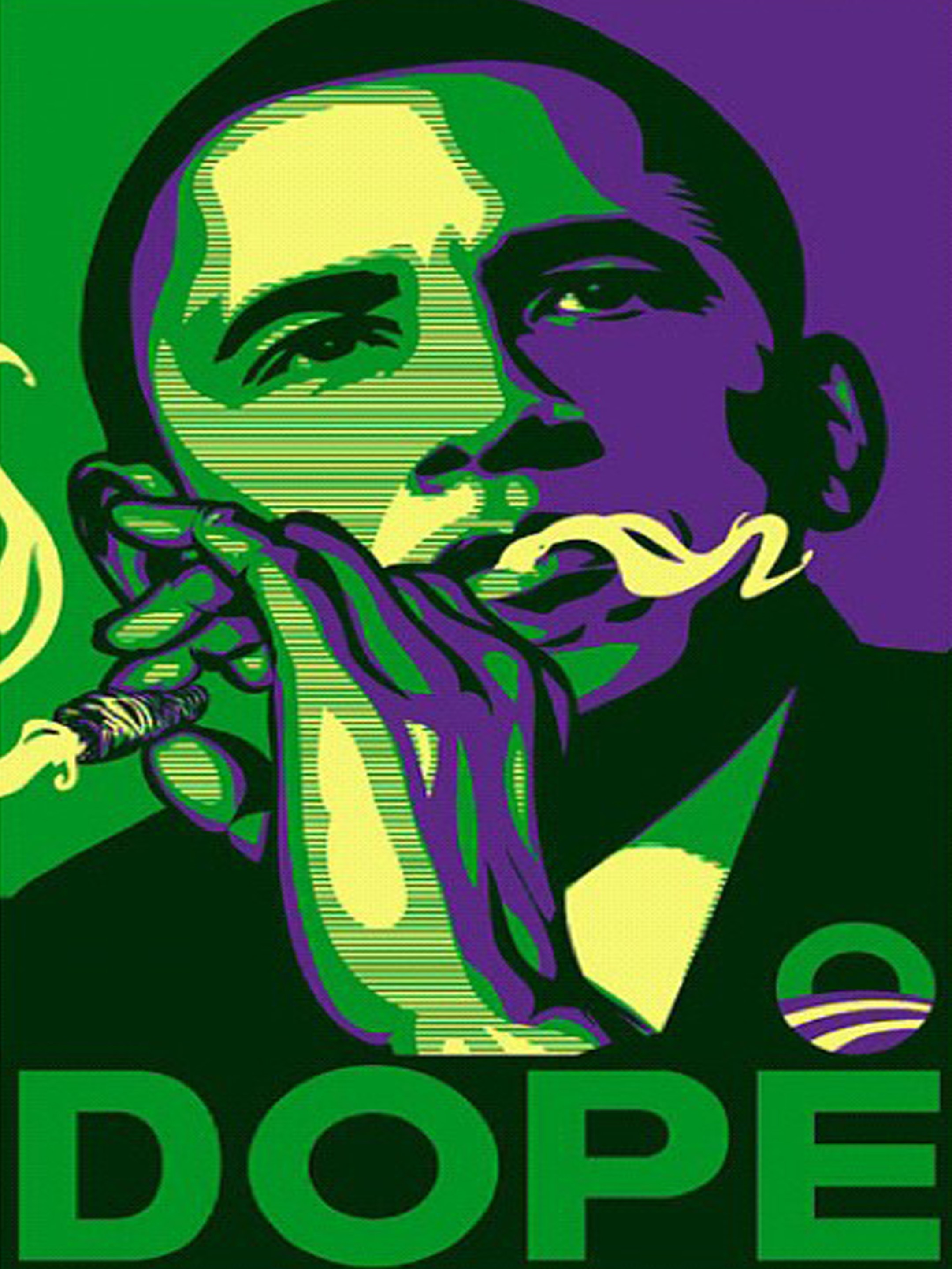 obama dope smoking sticker