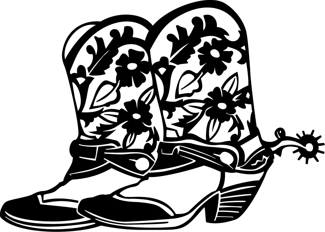 Cowgirl Boots Girl Boot Decal