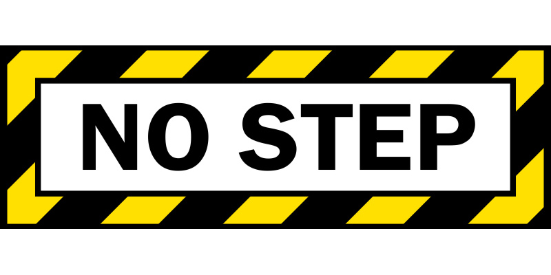 No Step Aircraft Sticker Prosportstickers Com