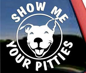 Show Me Your Pitties Decal Prosportstickers Com