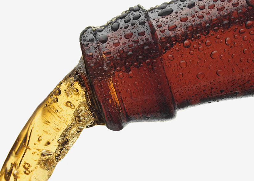 Beer Bottle Pouring Sticker