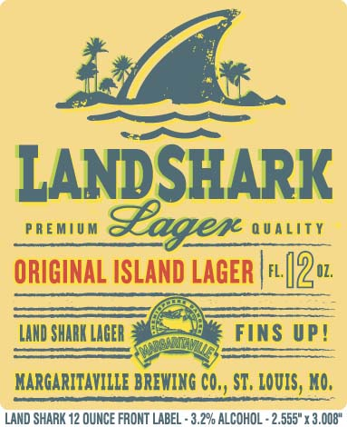 Landshark Lager Label Decal Prosportstickers Com