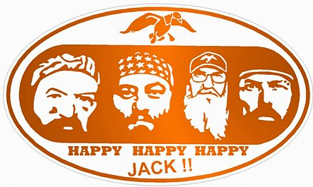 duck dynasty color oval sticker orange