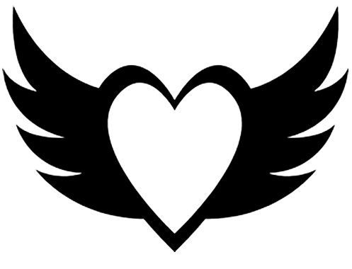 Heart With Wings Diecut Vinyl Decal Prosportstickers Com