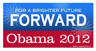 obama forward is brighter bumper sticker  26829