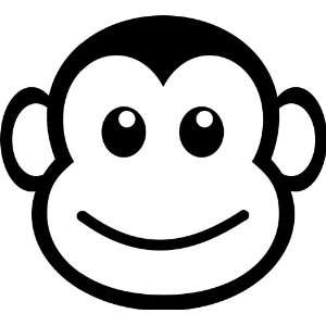 Monkey Face Funny Vinyl Decal Sticker 5 Prosportstickers Com