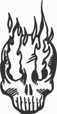 Flame Skull Decal 4 - ProSportStickers.com