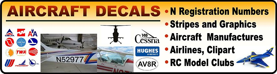 Aircraft Stickers & Decals