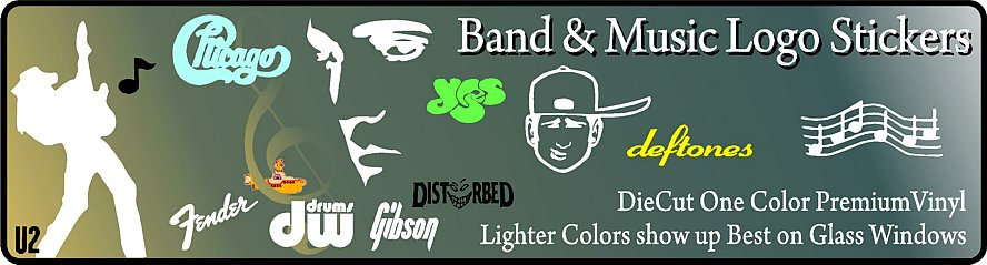Band & Music Logo Stickers