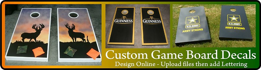 Custom Game Board Decals