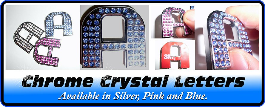 Chrome Crystal Letter
