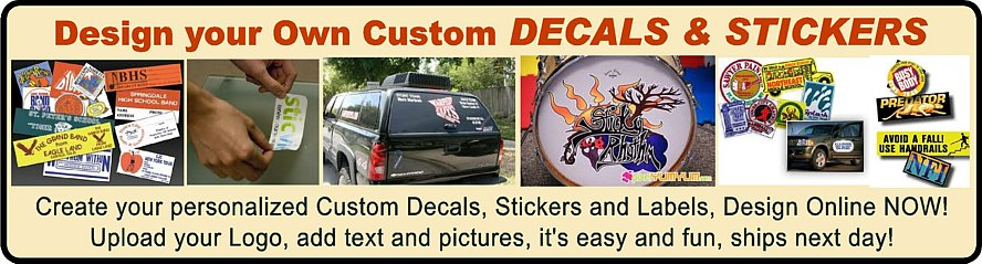 Custom Decals & Stickers