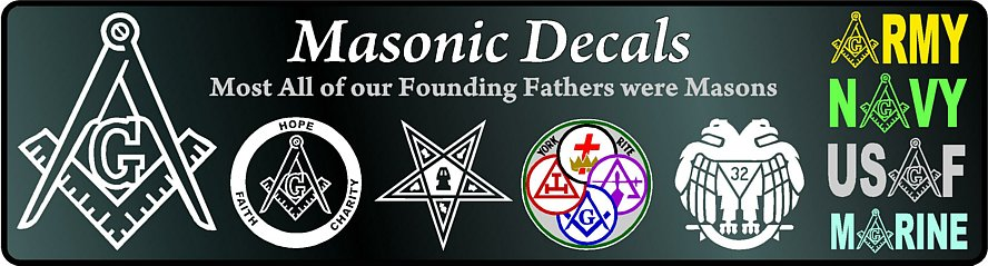 Masonic Decals Stickers
