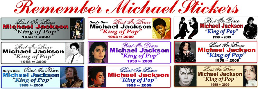 Michael Jackson Memory Sticker