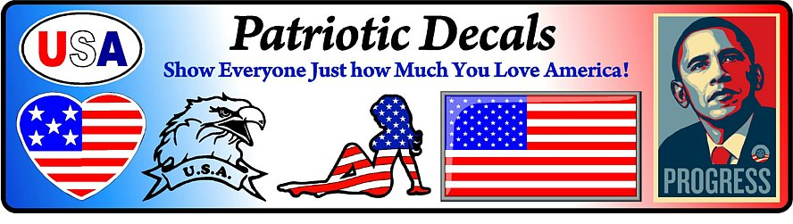Patriotic Decals Stickers