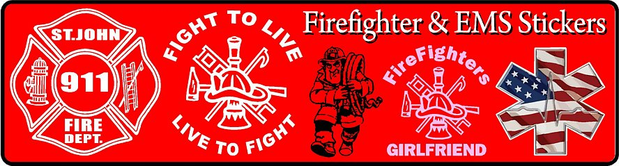 Fireman Decals Stickers