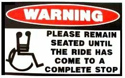 Seated Funny Warning Sticker, Funny Stickers, Funny Car Decals, Funny ...
